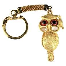 Rosenfeld by Florenza Vintage Scholarly Graduate Owl Motif Key Chain