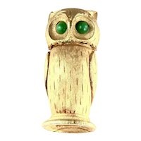 Florenza Vintage Green Eyed Owl Lighter