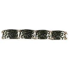 Modernist Eloxal Swirl Design Bracelet