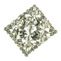 DeLizza and Elster Juliana Crystal Rhinestone Sticks and Stones Design Brooch