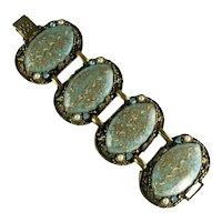 Selro Aqua Blue Confetti Vintage Bracelet