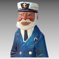 Sea Captain, Titanic, Nautical, Maritime, Wood Carving Figural