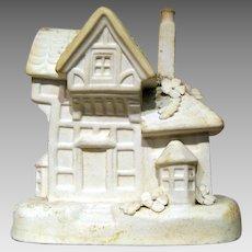 Vintage Unglazed Bisque Rockingham Cottage Pastille Burner