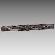 Coat of Arms Sterling Silver Bar Pin or Brooch, marked, great detail