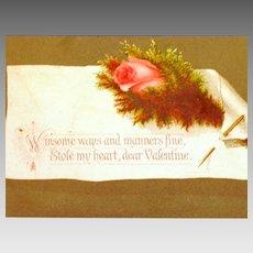 Winsome Ways Vintage Valentine's Postcard unused