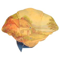 Paper Fan 30's or 40's Bucolic image Funeral Home