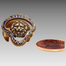 Enamel British Legion with Lion Buttonhole Pin