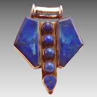 Lapis silver large pendant made in India;never worn