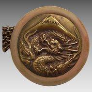 Dragon with Mt Fuji Netsuke