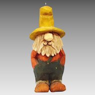 Artisan Hand Carved Wood Hillbilly, Mountain Man Pendant or Ornament signed by artist and dated from the 70's
