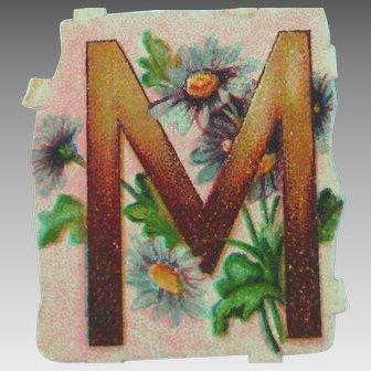 """Die Cut """"M"""" Letter"""