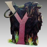 Y is for Yak Die Cut Letter