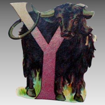 Y is for Yak Die Cut Letter