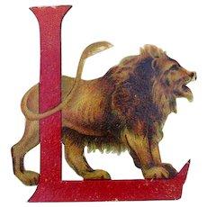 Die cut Lion with L letter