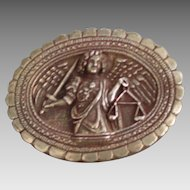 Rebecca Collins Archangel Sterling Silver Brooch or Pendant, marked