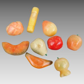 Stone fruit collection, probably from Mexico for decorative tablescapes or dolls