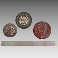 Trio of Vintage Buttons