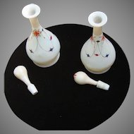 Bristol perfume bottles with original stoppers