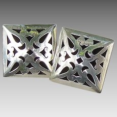 Mexican 925 silver pierced design earrings clips