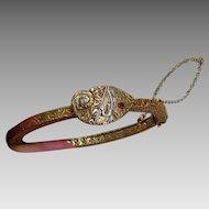 Victorian Embellished Bracelet with Arrowhead Motif
