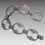 Vintage Silver tone Filigree bracelet