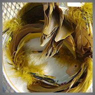 New Old stock of Milliner's feathers