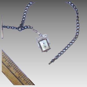 MOP Locket on Watch chain