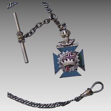 Knights Templar Watch Fob from the 1920s, as is