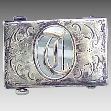 Sterling front T/D Belt buckle