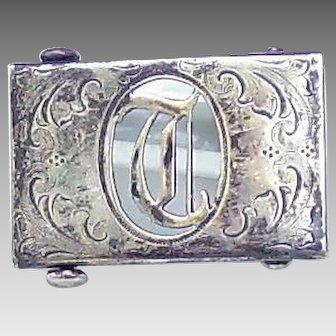 Sterling front T/D Belt buckle