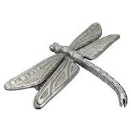 pewter Dragonfly - vintage JJ pin