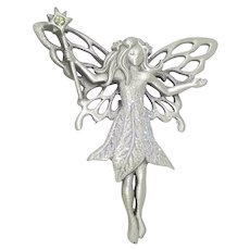 Fairy Faery with Wand - pewter pin - JJ Jonette