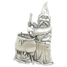 Merlin Wizard - JJ pin brooch