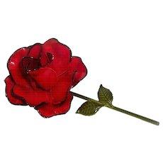 Red Rose - JJ Brooch - Rare