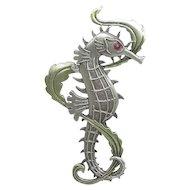 Seahorse -JJ pin brooch - Sea Horse
