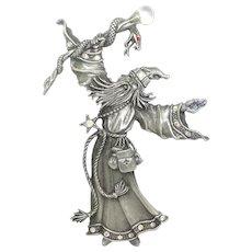 Wizard Staff Serpent - JJ pin - J.J. Mythical brooch