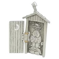 Outhouse Privy - JJ articulated pin - petite size