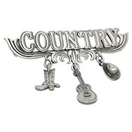 Country Music - JJ pin brooch