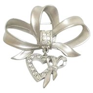 Bow with Heart -  JJ pin