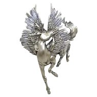 large Pegasus brooch - Jonette JJ pin
