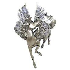 large Pegasus brooch - Jonette JJ pin