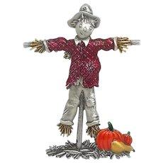 Scarecrow - Harvest brooch pin - JJ brooch