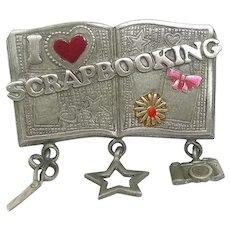 I Love Scrapbooking - Spoontiques pin