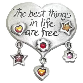 Best Things In Life Are Free - JJ pin brooch