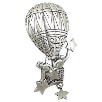 Hot Air Balloon - JJ Pin Jonette Brooch