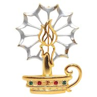 Christmas Candle - JJ Holiday brooch