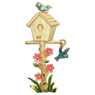 Birdhouse Blue Bird Fence - JJ pin