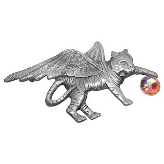 Winged Tiger Cat with Ball - AJC pin