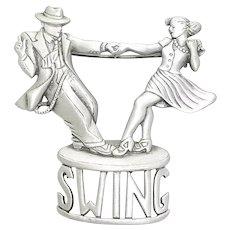 Swing Dance Dancers - Jazz - pewter JJ pin