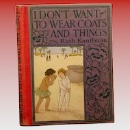 "Altemus  "" I Don't Want to Wear Coats and Things"" 1923"